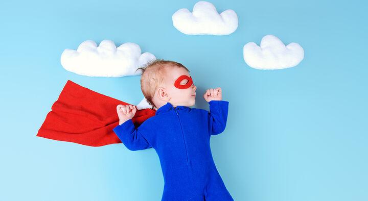 Flyvetips med baby