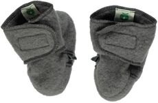 100% Merino Uld, Baby Sko - Grey-237