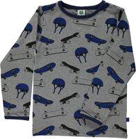 T-Shirt Med Skater Udstyr - M.Grey-230