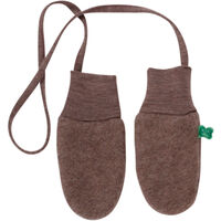 Uld Fleece Handsker - Walnut