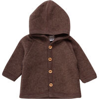 Uld Fleece Jakke - Walnut