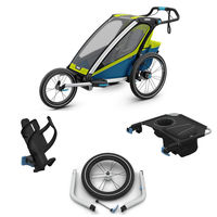 Chariot Sport 1 Inkl. Jogging Kit - Chartreuse/Mykonos