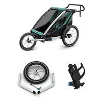 Thule Chariot Lite 2 + Joggingkit + Flaskeholder