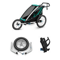 Thule Chariot Lite 1 + Joggingkit + Flaskeholder