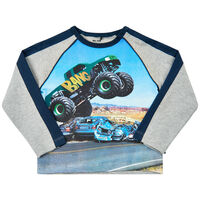 Langærmet T-shirt - 1231