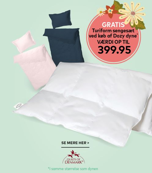 Dyne + sengetøj