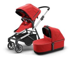 Thule Sleek Med Liggedel - Energy Red