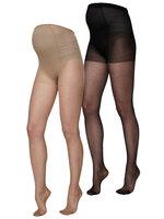 Malou Strømpebukser 2-Pak  - Black-Tan