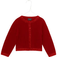 Addy Baby Cardigan - Chine Red