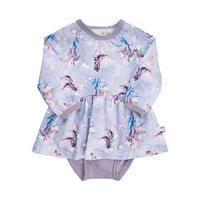 Mønstret Kjolebody - 6910 Lavender Gray
