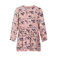 Mønstret Kjole Med Lange Ærmer - 5513 Blossom
