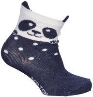 Babystrømper, Panda Med Ører - 285 Marine