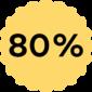 Spar 80%