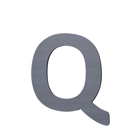 Q - Træbogstav - Grå
