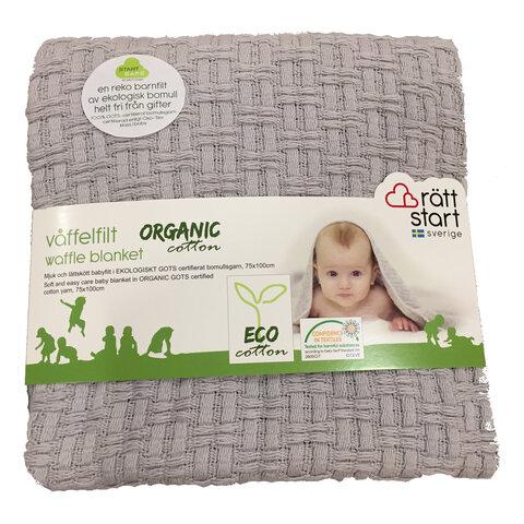 Mega Økologisk tæppe, grå - Babysam.dk GS79