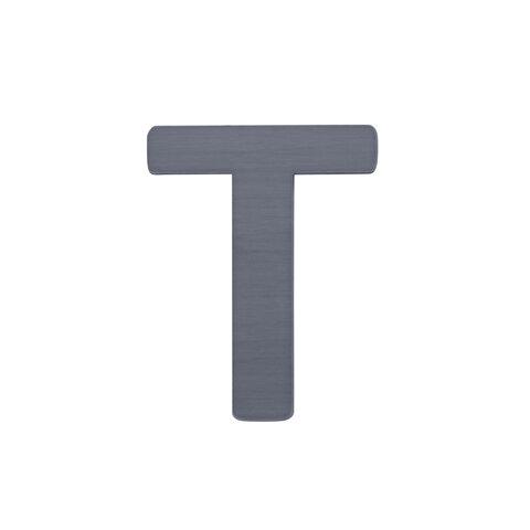 T - Træbogstav - Grå