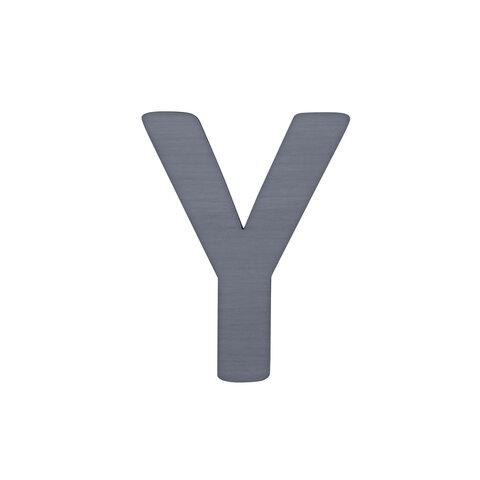 Y - Træbogstav - Grå