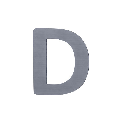 D - Træbogstav - Grå