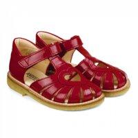 Hjerte Sandal Med Lukket Tå Og Velcro - 1377/Dark Red
