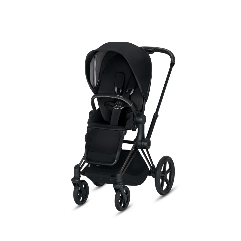 Image of   Cybex Priam Lux Seat Premium Black + Matt Black Stel