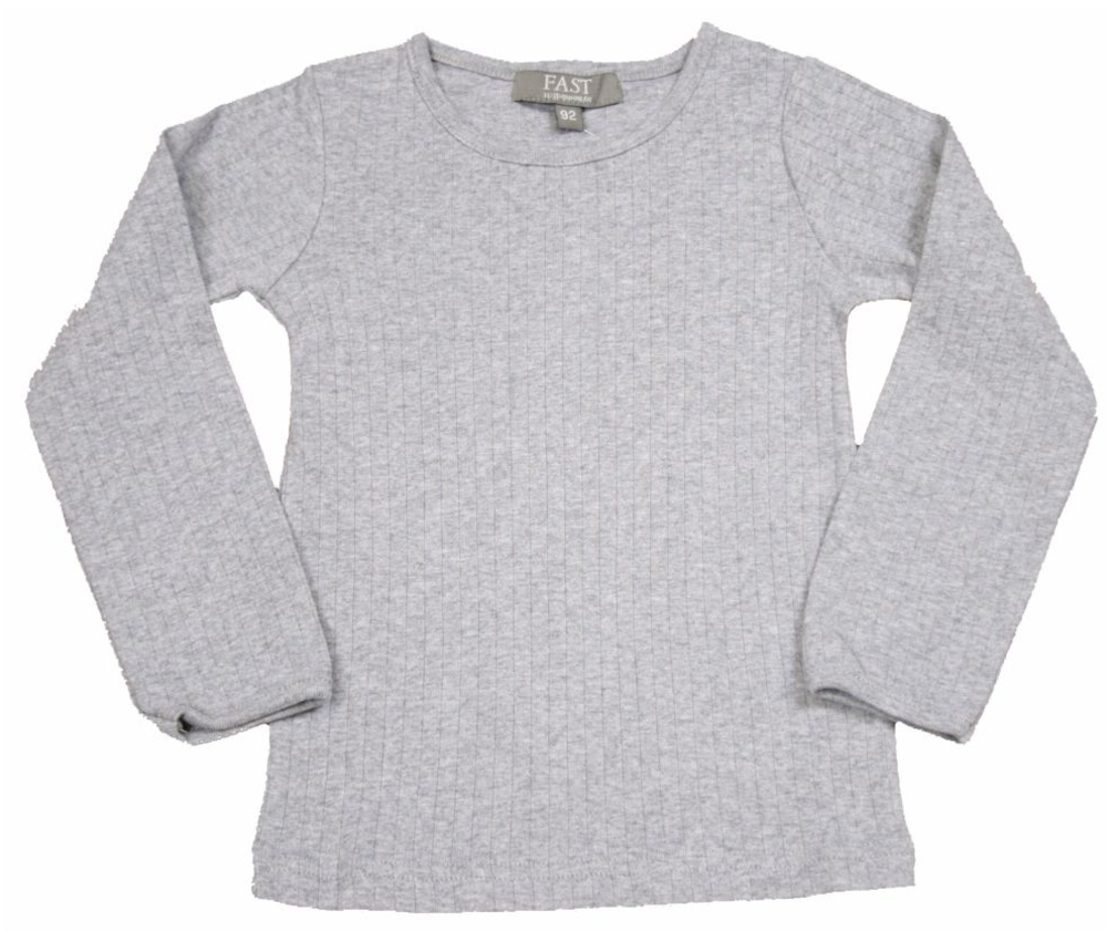Image of   Bombibitt T-shirt L/s Ensf. - Grey/006