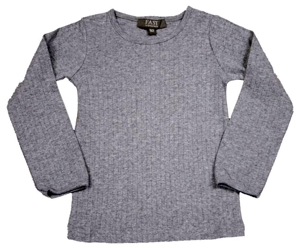 Bombibitt T-shirt L/s Ensf. - Grey/006 thumbnail