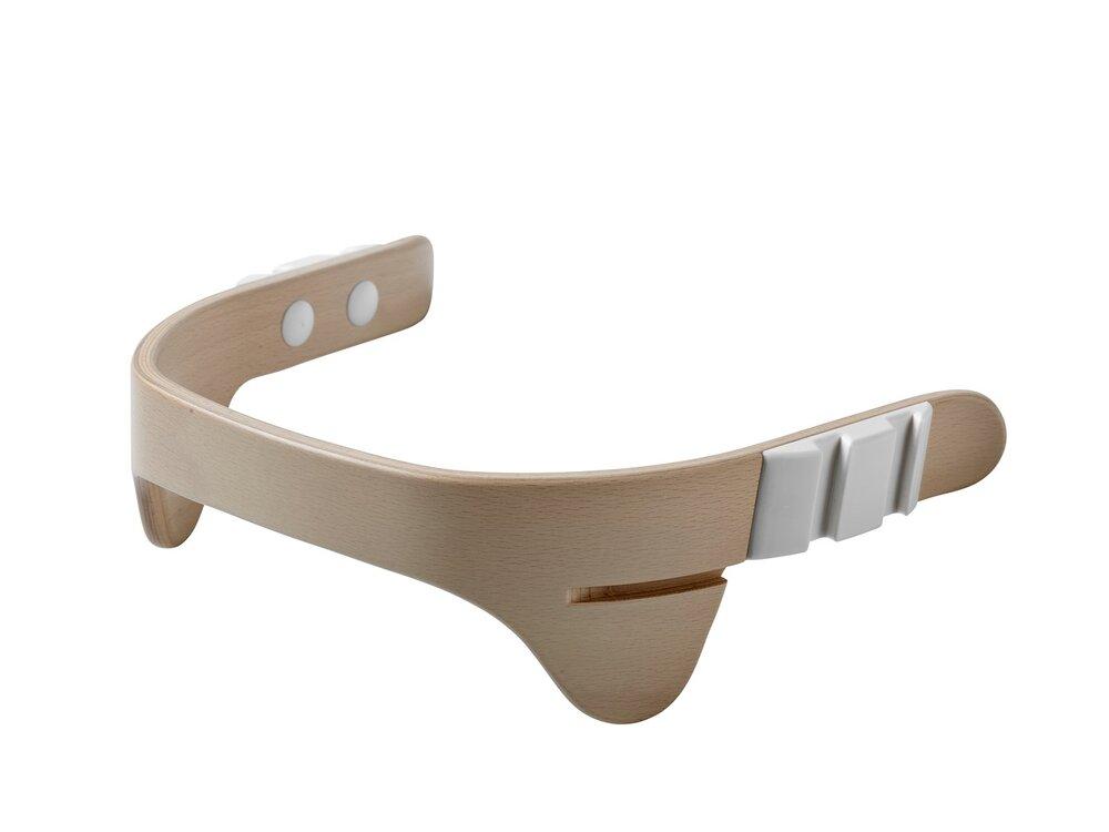 Image of   Leander® bøjle til højstol inkl. læderstrop - Whitewash - Strop: natur
