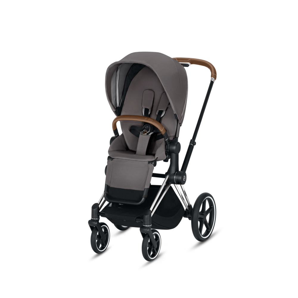 Image of   Cybex Priam Klapvogn Manhattan Grey Med Chrome Stel