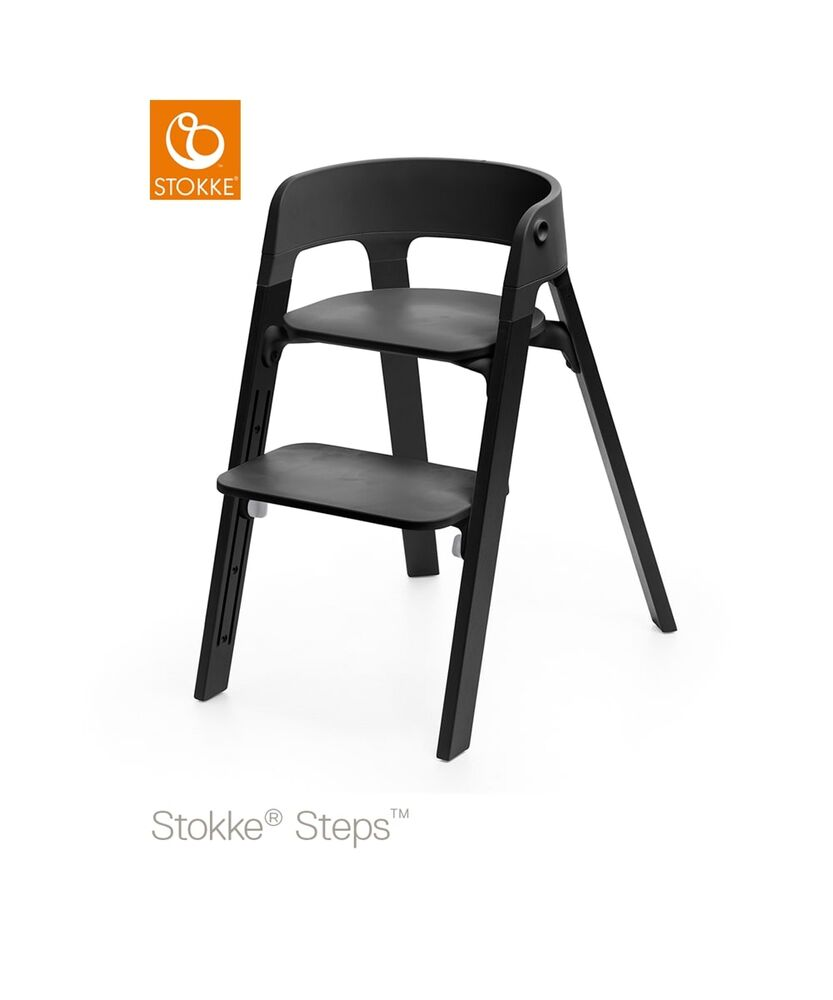 Image of   Stokke® Steps™ Højstol, Sort/Eg Sort