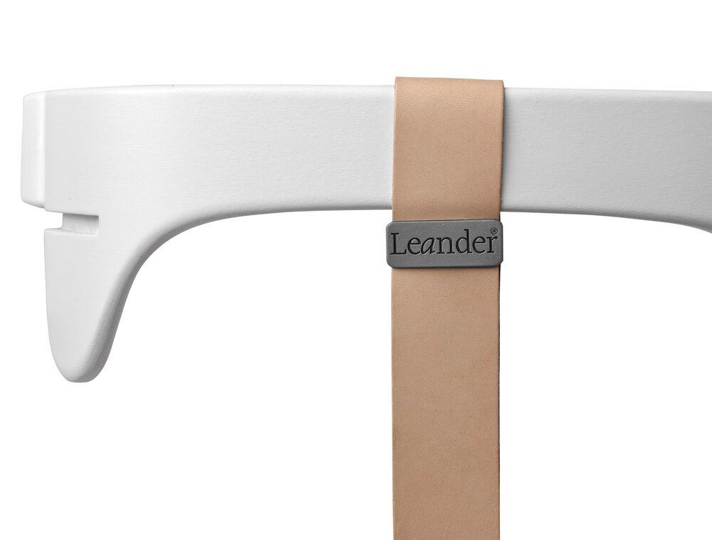 Image of   Leander® bøjle til højstol inkl. læderstrop - Hvid - Strop: natur