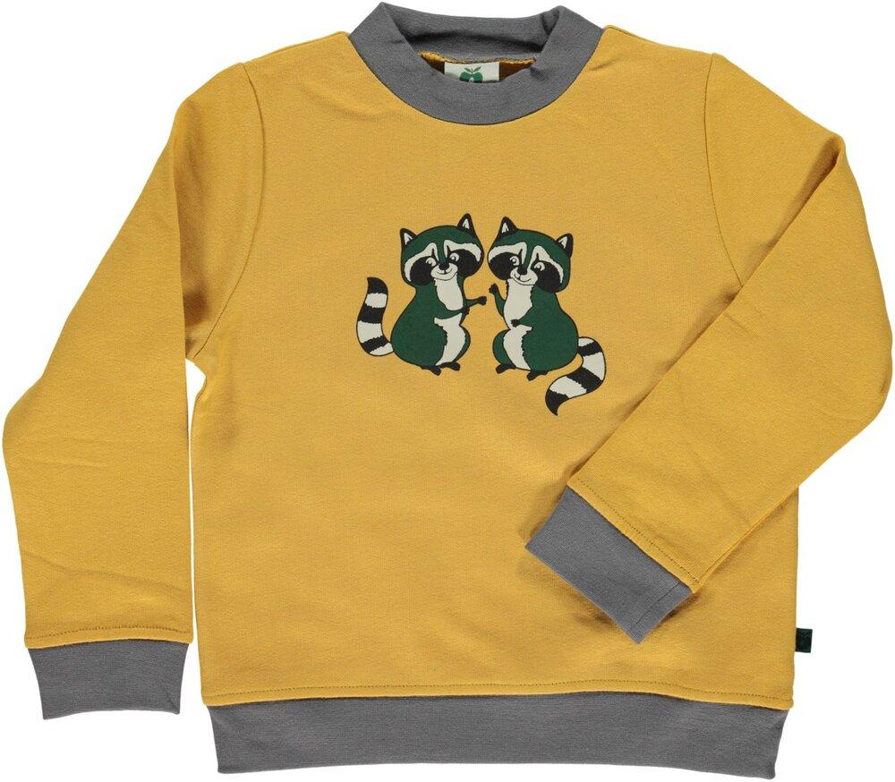 Småfolk Sweatshirt Med Vaskebjørn - 433 Ochre thumbnail