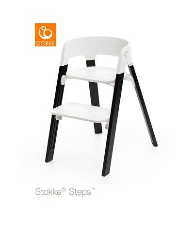 Steps™ Højstol, Hvid/Eg Sort