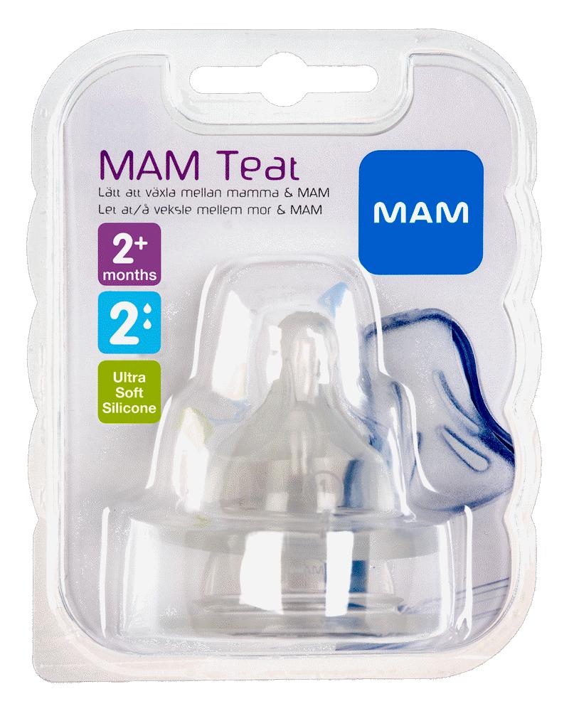 MAM 2-Pak Flaskesut Teat, Størrelse 2 thumbnail