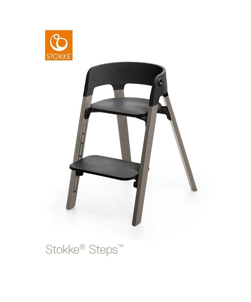 Image of   Stokke® Steps™ Højstol, Bøg Hazy Grey