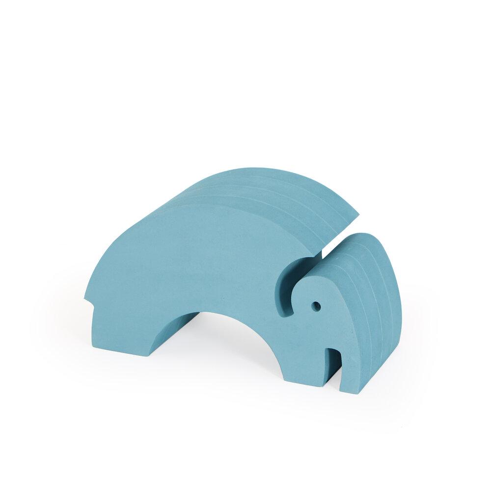Image of   bObles Mellem Elefant - Blå Marmor
