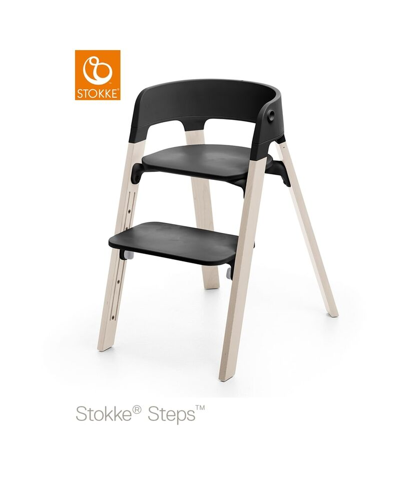 Image of   Stokke® Steps™ Højstol, Bøg - Whitewash