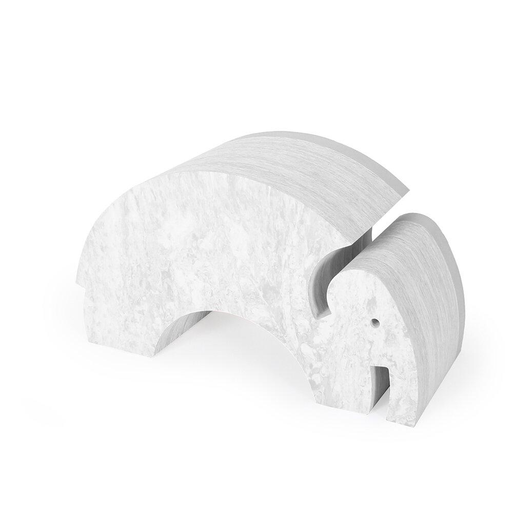 Image of   bObles Elefant marmor lys grå