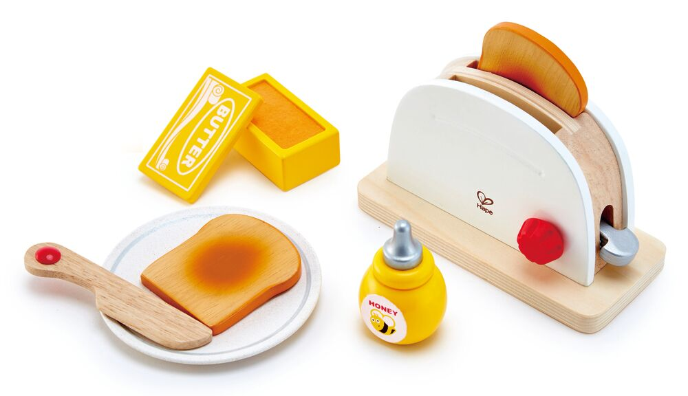 Image of   Hape Pop-up Toaster Set