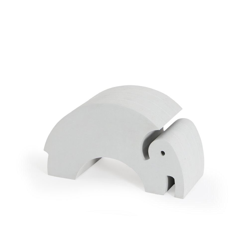 Image of   bObles Mellem Elefant - Grå Marmor