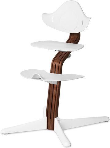 Højstol Hvid m. Premium Valnød