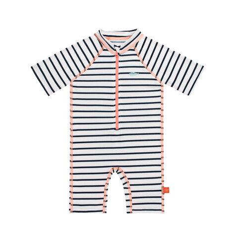 833d41c7407 Kortærmet Svømmedragt - Striped Girl - Babysam.dk