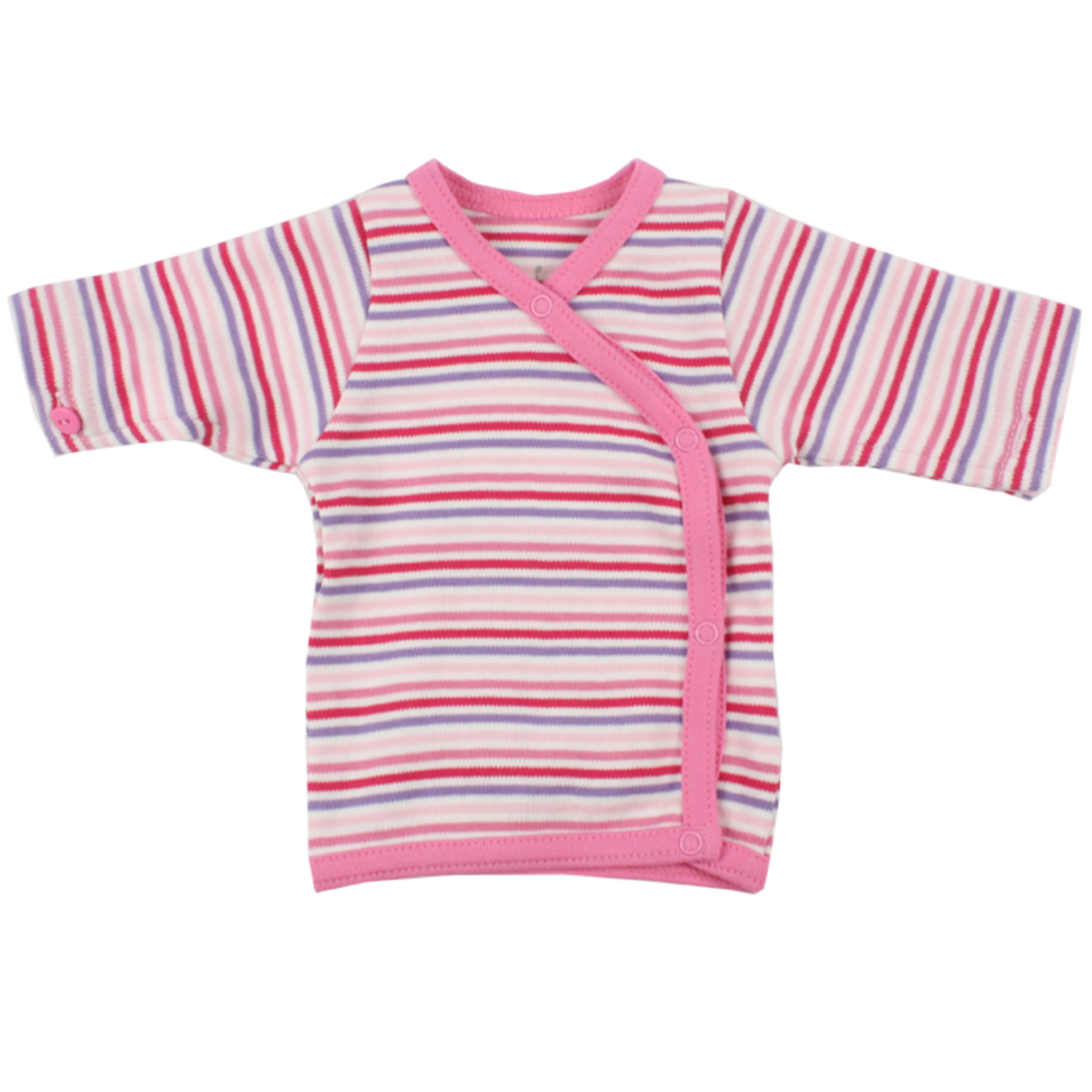 Fixoni Wrap Bluse - Little Bee - Pink Strib thumbnail