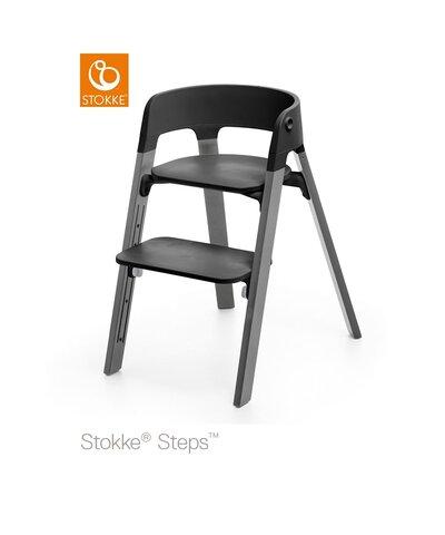Steps™ Højstol, Bøg - Stormy Grey