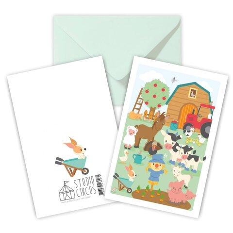 Bondegård, Dobbeltkort Med Kuvert