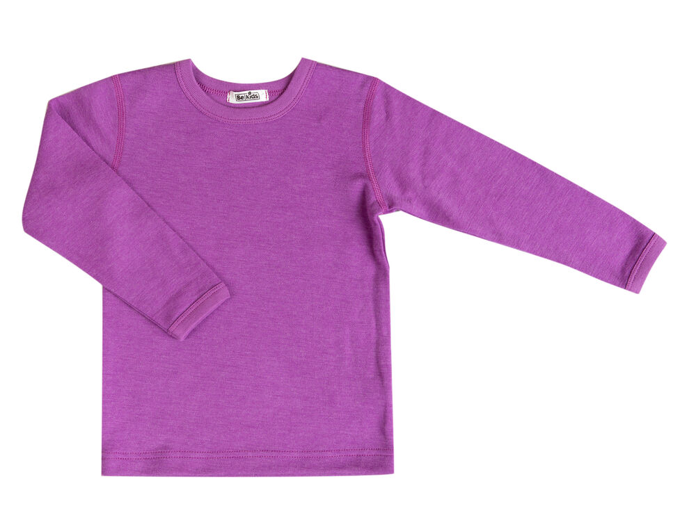 Image of   BeKids Shirt w/long sleeves Uld - Rosa
