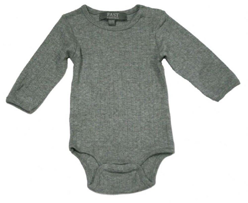 Image of   Bombibitt Baby Bodystocking - Grey Melange 006