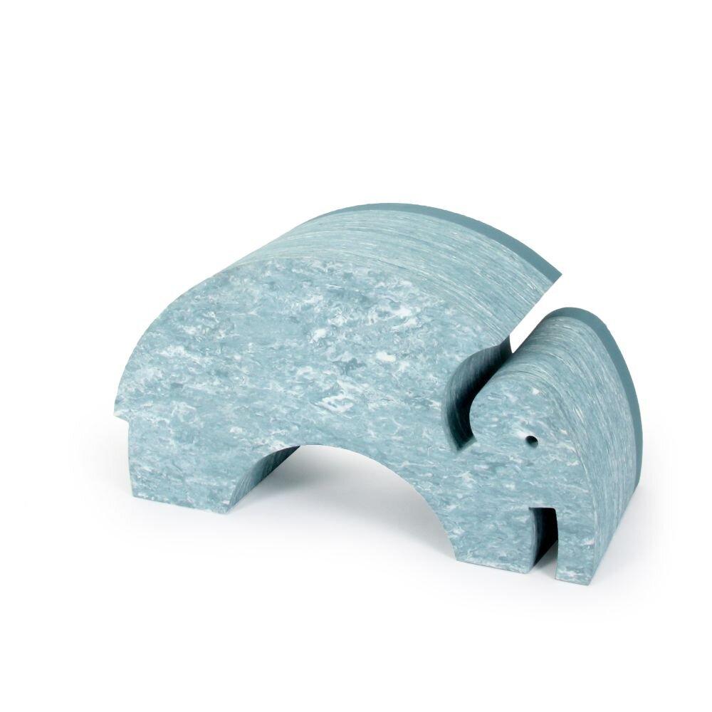 Image of   bObles Elefant Marmor - Lys Blå