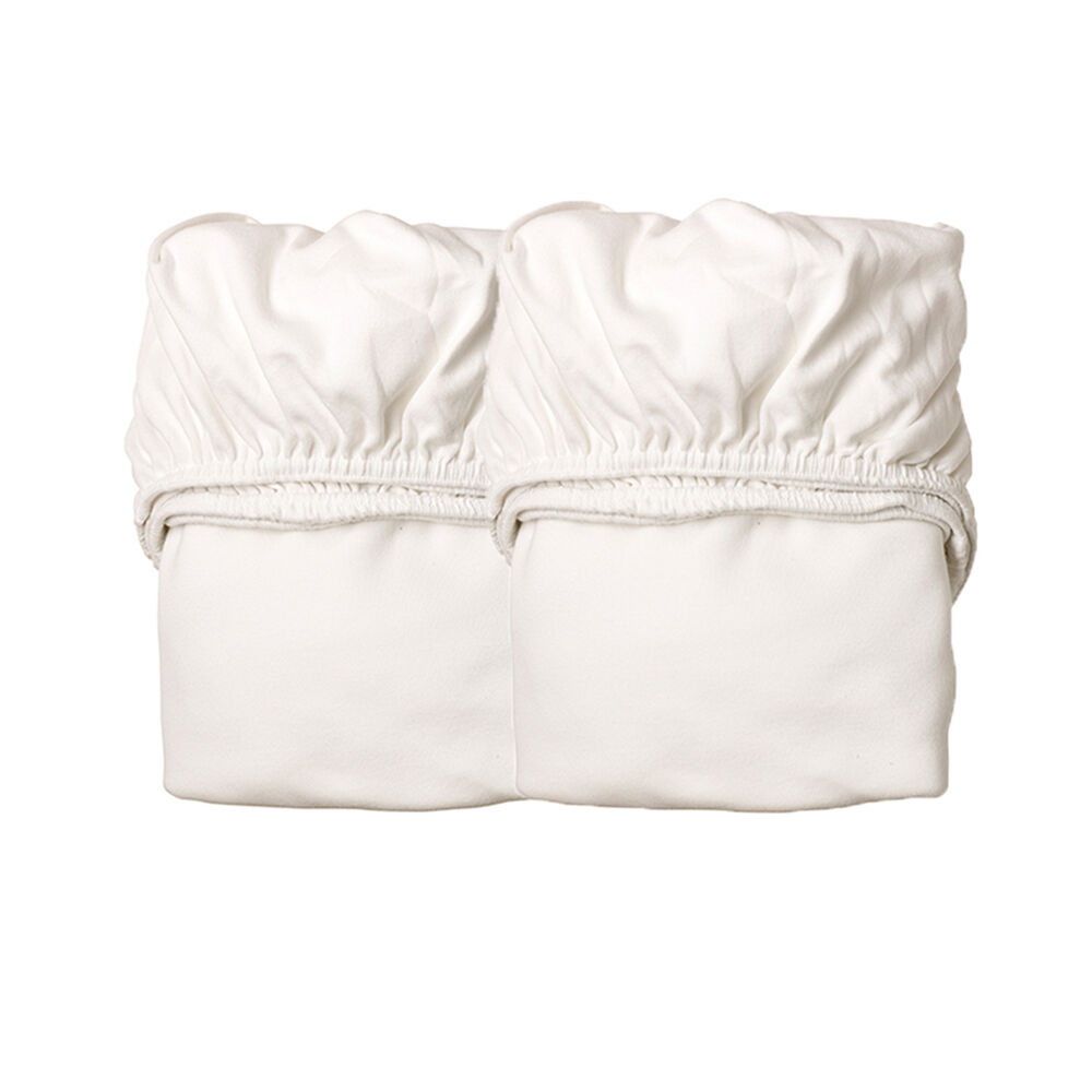 Leander® Jersey Lagen Til Vugge, 2 pak - Hvid thumbnail