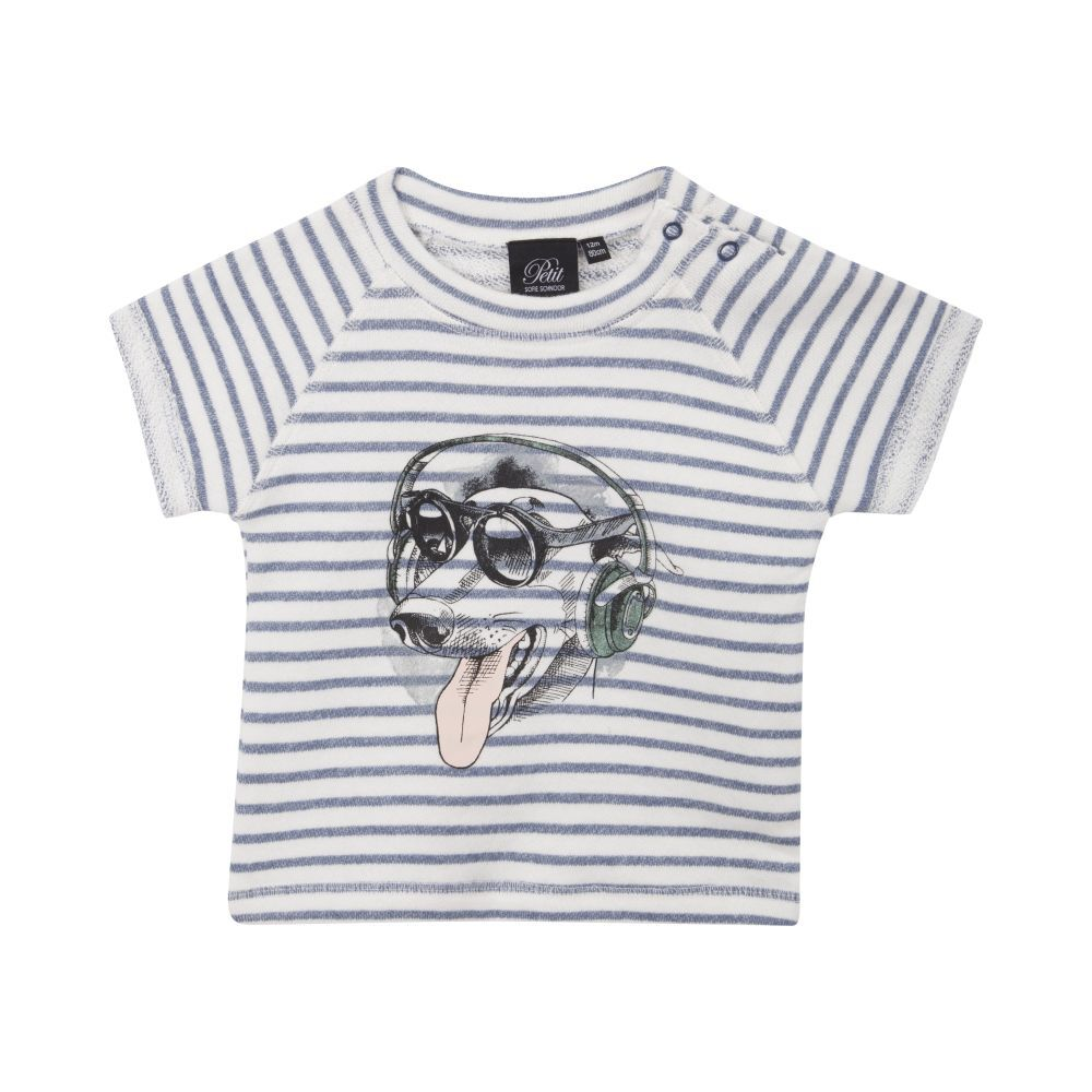 Petit by Sofie Schnoor T-shirt Med Print - Striped thumbnail