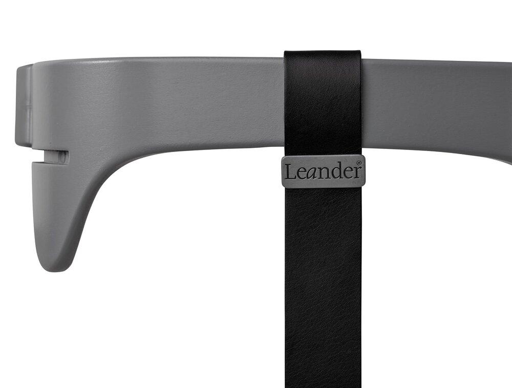 Image of   Leander® bøjle til højstol inkl. læderstrop - Grå - Strop: sort